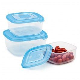 Élelmiszer tároló doboz, 3 db, szögletes