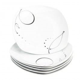 Domestic Chanson 6 részes lapos tányér készlet, 25 cm