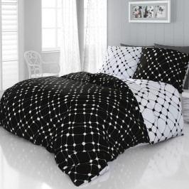 Kvalitex Infinity szatén ágyneműhuzat fekete-fehér, 200 x 200 cm, 2 ks 70 x 90 cm