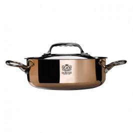 de Buyer Prima Matera rézlábas indukciós tűzhelyre, rozsdamentes acél fedővel, Ø 20 cm