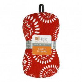 MÜkitchen MÜmicro® mosogatószivacs, Medallion Multi, piros