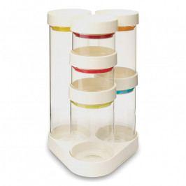 Joseph Joseph FoodStore™ tárolóedény/fűszertartó készlet forgatható állványon, fehér