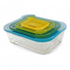 Joseph Joseph Nest™ Glass Storage kompakt üveg tárolóedény készlet, fedővel