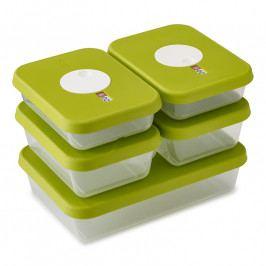 Joseph Joseph Dial™ dátumos tárolóedény készlet, 5 részes, zöld