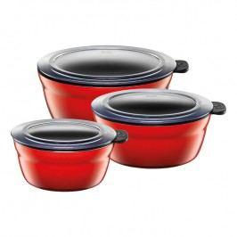 Silit Fresh Bowls tálkakészlet, 3 darbos, Energy Red