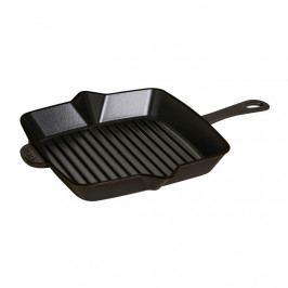 Staub Öntöttvas grillserpenyő, fekete, 26 x 26 cm