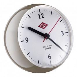 Wesco Mini asztali óra időzítővel,fakóbarna