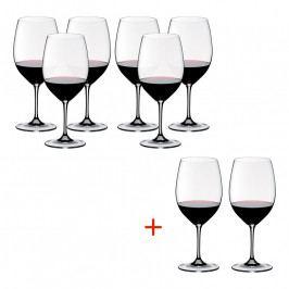 Riedel Kedvezményes szett: Bordeaux kristály borospohár, 6+2 db ajándék, Vinum