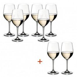 Riedel Kedvezményes szett: Chablis / Chardonnay kristály borospohár, 6+2 db ajándék, Vinum