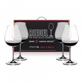 Riedel Kedvezményes szett: Pinot Noir kristály borospohár, 3+1 db ajándék, Vinum XL