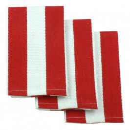 MÜkitchen MÜincotton® kisméretű konyharuha, 3 db, piros csíkokkal