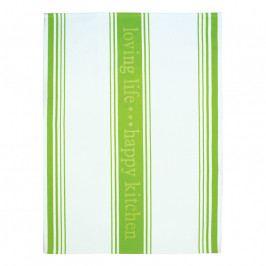 MÜkitchen MÜincotton® konyharuha / törölköző, Loving Life, zöld