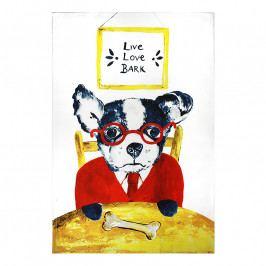 MÜkitchen MÜincotton® konyharuha / törölköző, Live Love Bark