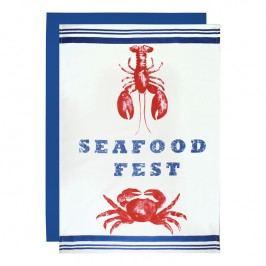 MÜkitchen Nagyméretű konyharuha, 2 db, Seafood Fest motívummal