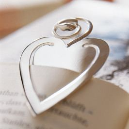 Robbe & Berking Szív alakú ezüst könyvjelző