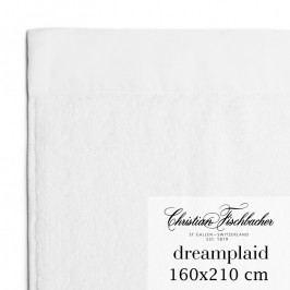 Christian Fischbacher Dreamplaid fürdőtörölköző, extra nagyméretű, 160 x 210, fehér, Fischbacher