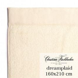 Christian Fischbacher Dreamplaid fürdőtörölköző, extra nagyméretű, 160 x 210, elefántcsontfehér, Fischbacher