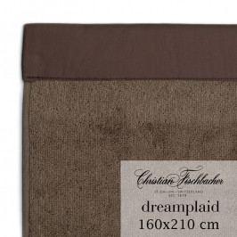 Christian Fischbacher Dreamplaid fürdőtörölköző, extra nagyméretű, 160 x 210, barna, Fischbacher