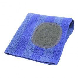 MÜkitchen MÜcloth mikroszálas törlőkendő, súrolórésszel, íriszkék csíkos