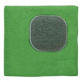 MÜkitchen MÜcloth mikroszálas törlőkendő, súrolórésszel, fűzöld
