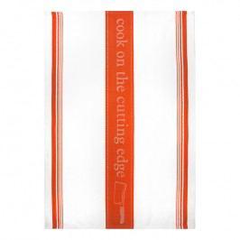 MÜkitchen MÜincotton® konyharuha / törölköző, Cook On The Cutting Edge, mandarinszínű