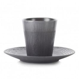 REVOL Arborescence espresso pohár kistányérral, medvecukorfekete, 8 cl