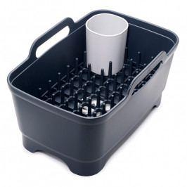 Joseph Joseph Wash&Drain™ Plus műanyag mosogatótál edényszárítóval, szürke