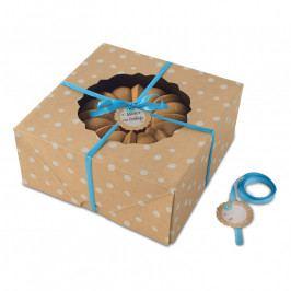 NordicWare Kraft Paper Bundt Box papír ajándékdoboz kuglófhoz, 2 db, nagyméretű, Nordic Ware