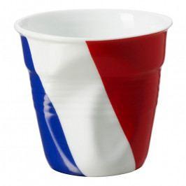 REVOL Froissés espresso pohár, 8 cl, francia zászlóval