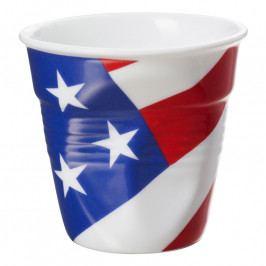 REVOL Froissés espresso pohár, 8 cl, amerikai zászlóval