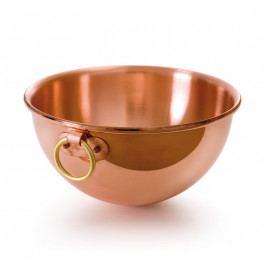 MAUVIEL Réz habverőtál, bronz karika fogantyúkkal, Ø 30 cm