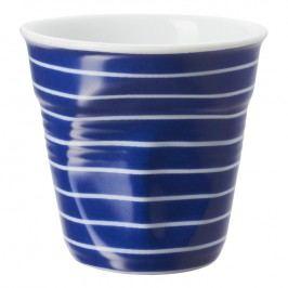 REVOL Froissés espresso pohár, 8 cl, kék, vékony fehér csíkokkal