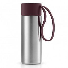 Eva Solo To Go thermo bögre; burgundi vörös kupakkal; 0,35 liter; rozsdamentes acél; Eva Solo