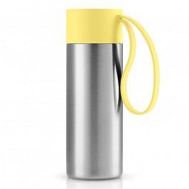 Eva Solo To Go thermo bögre; sárga kupakkal; 0,35 liter; rozsdamentes acél; Eva Solo