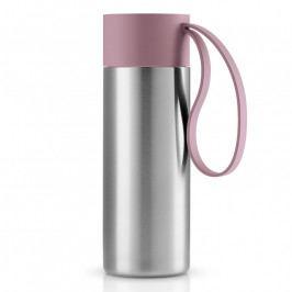 Eva Solo To Go thermo bögre; mályvavirágszínű pánttal; 0,35 liter; rozsdamentes acél; Eva Solo