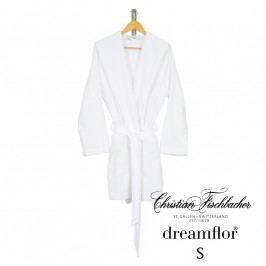 Christian Fischbacher Női fürdőköpeny, rövid, kapucnis, fehér, S-es, Fischbacher