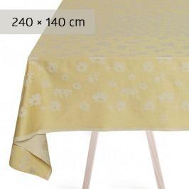 GEORG JENSEN DAMASK DAISY asztalterítő, sunbeam, 240 × 140 cm