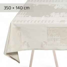 GEORG JENSEN DAMASK H.C.ANDERSEN asztalterítő, gardenia, 350 × 140 cm