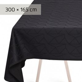 GEORG JENSEN DAMASK ARNE JACOBSEN asztalterítő, anthracite, 300 × 165 cm