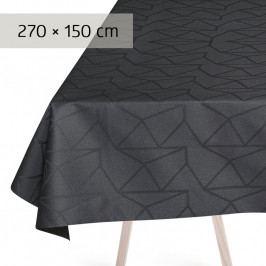 GEORG JENSEN DAMASK ARNE JACOBSEN asztalterítő, asphalt, 270 × 150 cm