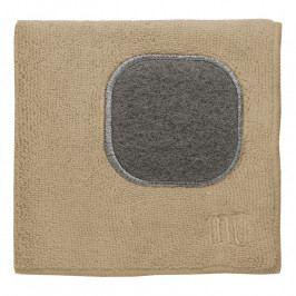 MÜkitchen MÜcloth mikroszálas törlőkendő, súrolórésszel, homokszínű