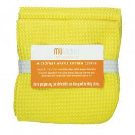 MÜkitchen MÜmicro® törlőkendő, 3 db, kockaszövésű, citromsárga