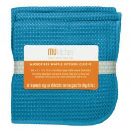 MÜkitchen MÜmicro® törlőkendő, 3 db, kockaszövésű, sea blue
