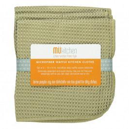 MÜkitchen MÜmicro® törlőkendő, 3 db, kockaszövésű, homokszínű