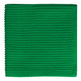 MÜkitchen MÜincotton® kisméretű konyhai törölköző, bordűr díszítéssel, smaragdzöld