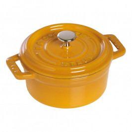 Staub Kerek fazék, mustársárga, Ø 10 cm