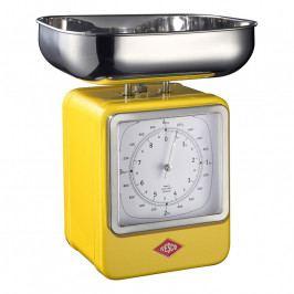 Wesco Konyhai mérleg órával, citromsárga