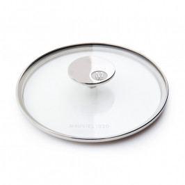 MAUVIEL Üvegfedő rozsdamentes acél fogantyúval, Ø 28 cm