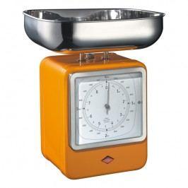 Wesco Konyhai mérleg órával, narancssárga