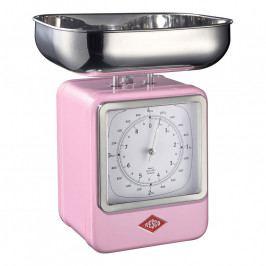 Wesco Konyhai mérleg órával, rózsaszín
